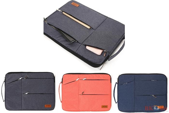 Túi chống sốc thời trang 3 khóa kéo shihan