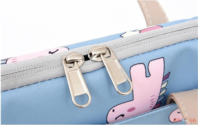túi chống sốc thời trang chi tiết khóa kéo