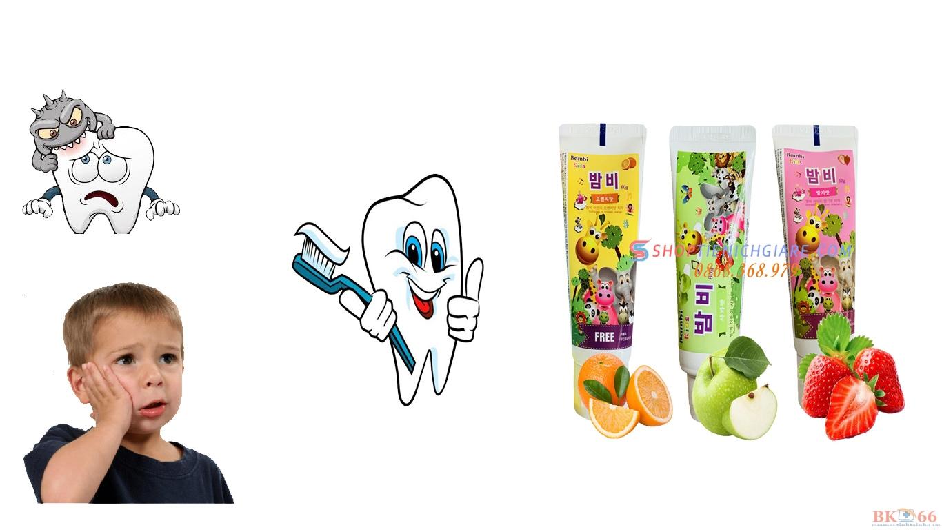 kem đánh răng trẻ em