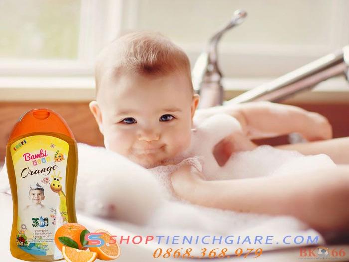 Sữa tắm gội hữu cơ cho bé